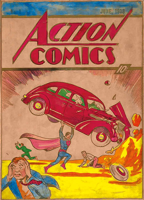 Original Action Comics #1 Cover Color Art