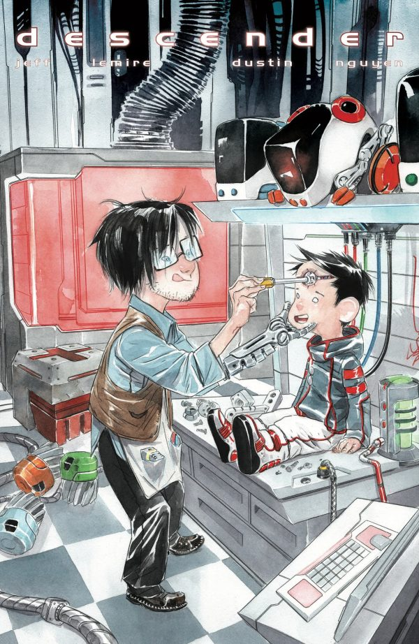 """We Get A Peek At Dustin Nguyen's """"Little Robot"""" Variant Cover For Descender #28 From Image Comics In March 2018"""
