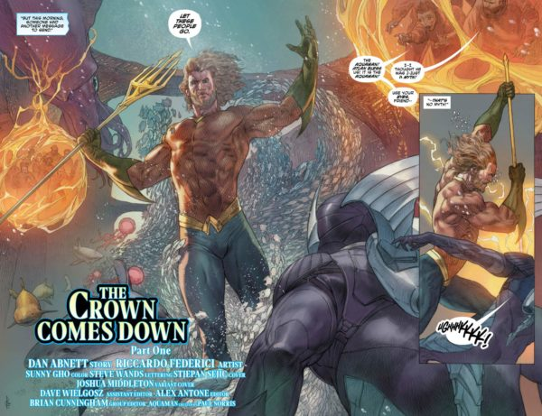 Aquaman #31 cover by Riccardo Federici and Sunny Gho