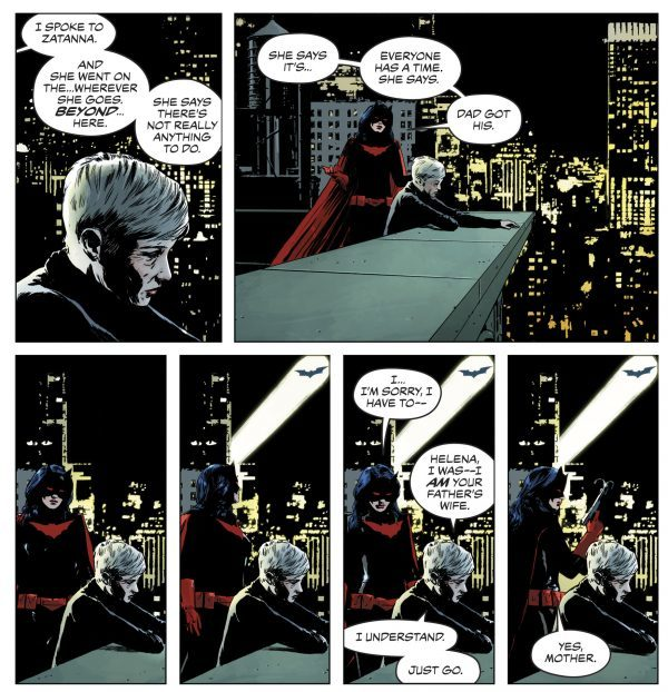 Batman Annual #2 art by Lee Weeks, Michael Lark (pictured), Elizabeth Breitweiser, and June Chung (pictured)