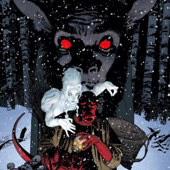 Hellboy Krampusnacht cover by Adam Hughes