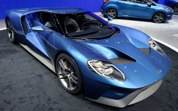 TORONTO-FEBRUARY 12: at the 2015 Canadian International Auto Show Ford GT 2017 comes with twin-turbocharged 3.5-liter EcoBoost V-6 engine. that produce more than 600 horsepower