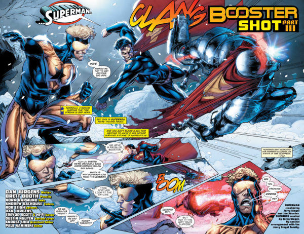 Action Comics #995 art by Brett Booth, Norm Rapmund, and Andrew Dalhouse