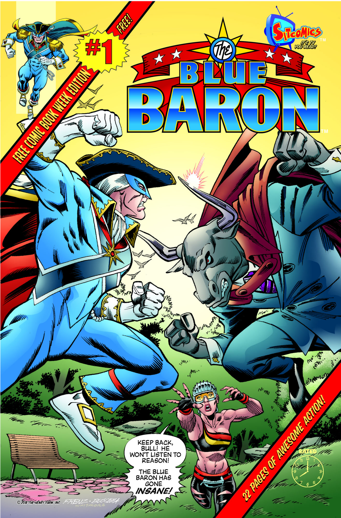 22-page preview of blue baron #1 with ron frenz and sal buscema