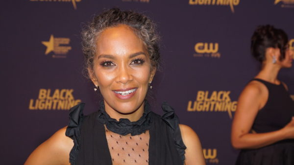 Mara Brock Akil at Black Lightning Premiere