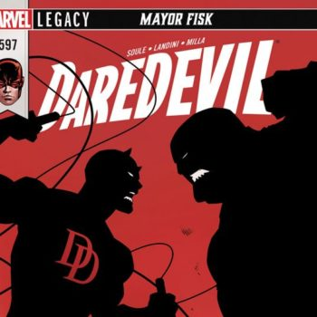 Daredevil #597 cover by Dan Mora and Romulo Fajardo