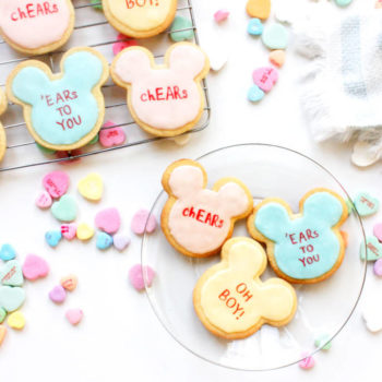 mickey mouse valentine's cookies