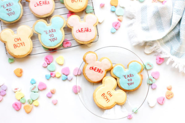 mickey mouse valentines day cookies