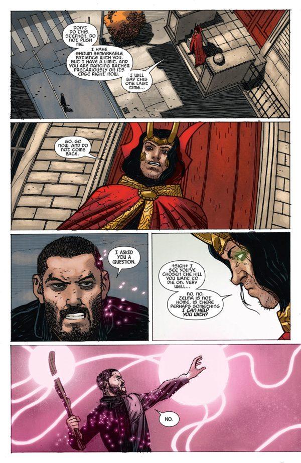 Doctor Strange #384 art by Gabriel Hernandez Walta and Jordie Bellaire