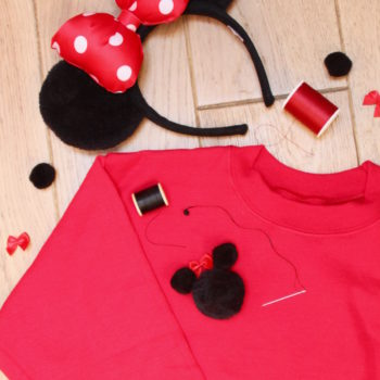 minnie mouse diy sweatshirt