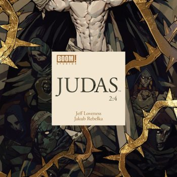 Judas #2 cover by Jakub Rebelka
