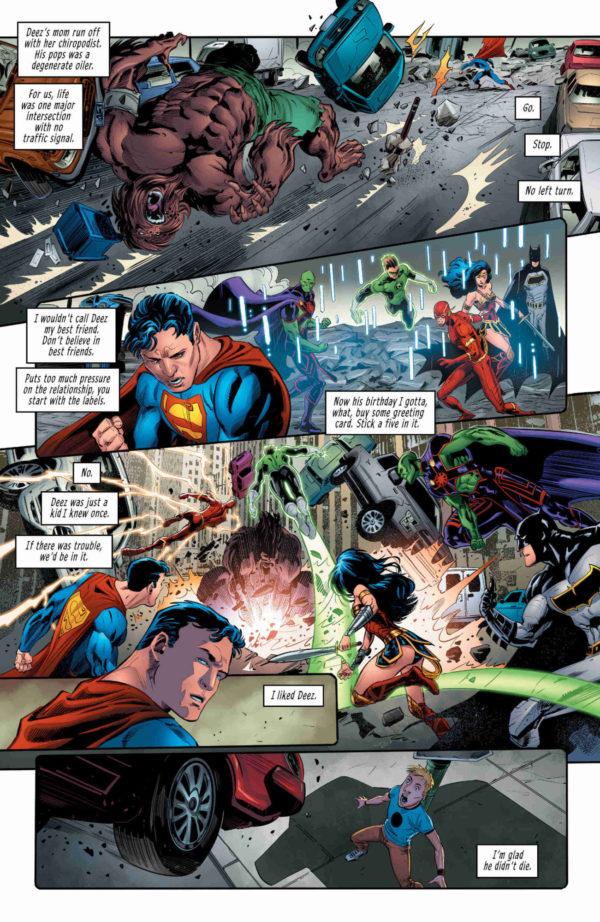 Justice League #37 art by Phillipe Briones and Gabe Eltaeb