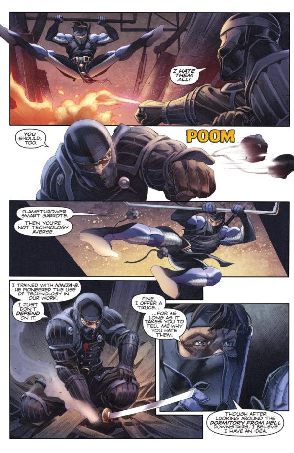 Ninja-K #3 art by Tomas Giorello and Diego Rodriguez