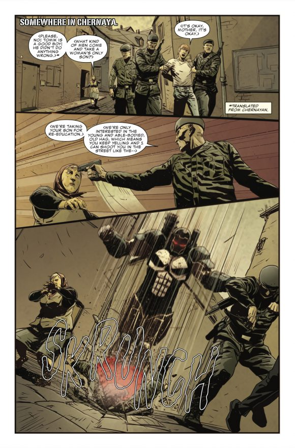 The Punisher #220 art by Guiu Vilanova and Lee Loughridge