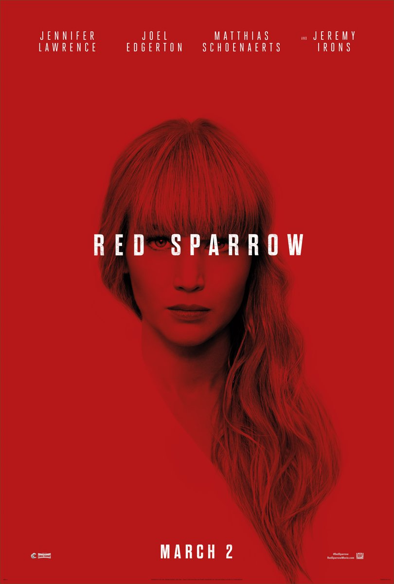 Jennifer Lawrence's Red Sparrow Gets a New Poster and TV Spot