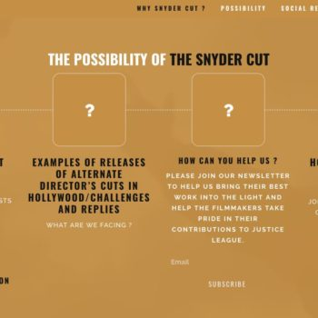 justice league snyder cut website