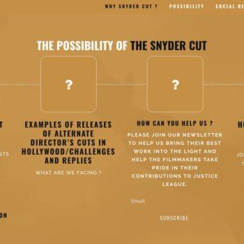 justice league snyder cut website