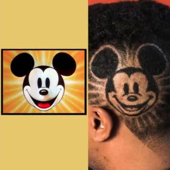 mickey mouse haircut art