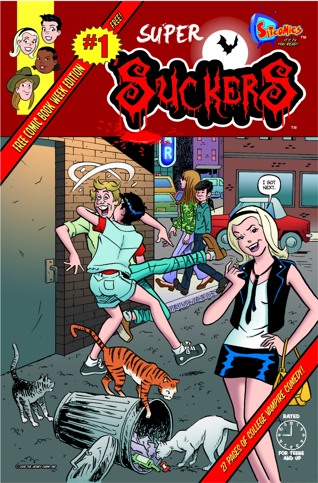 28-page preview of super suckers #1, another of sitcomics' 64-page