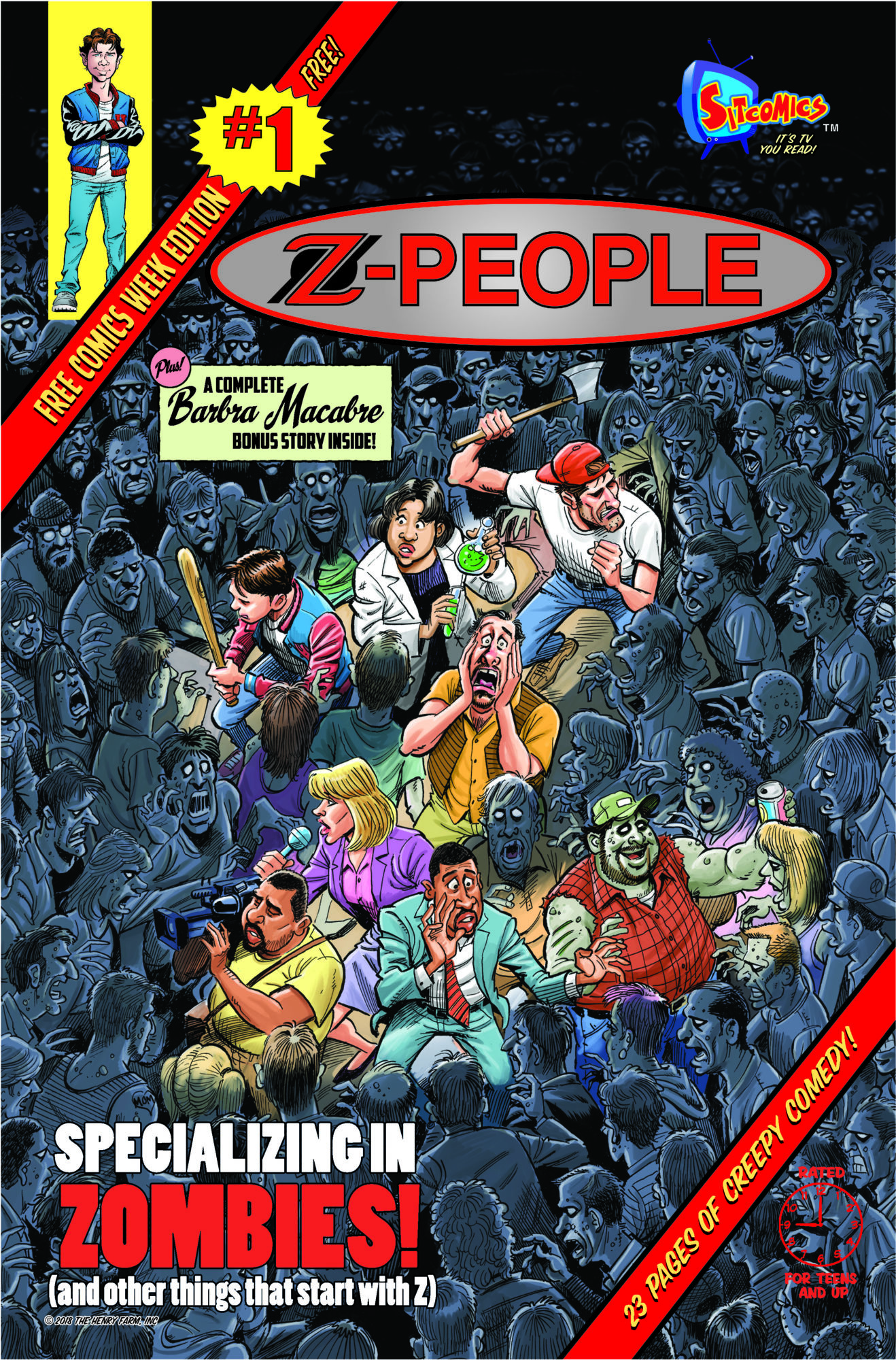 24-page preview of z-people #1, another of sitcomics' 64-page $3.99