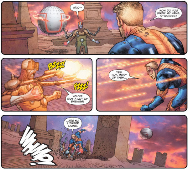 X-O Manowar #11 art by Ryan Bodenheim and Andrew Dalhouse