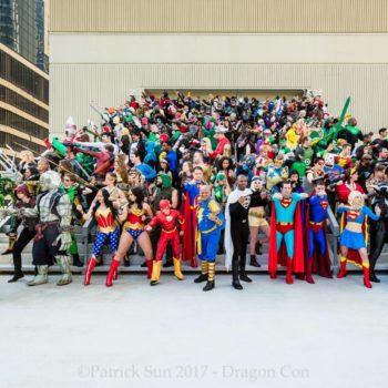 DC Giant Group Photoshoot at Dragon Con 2017
