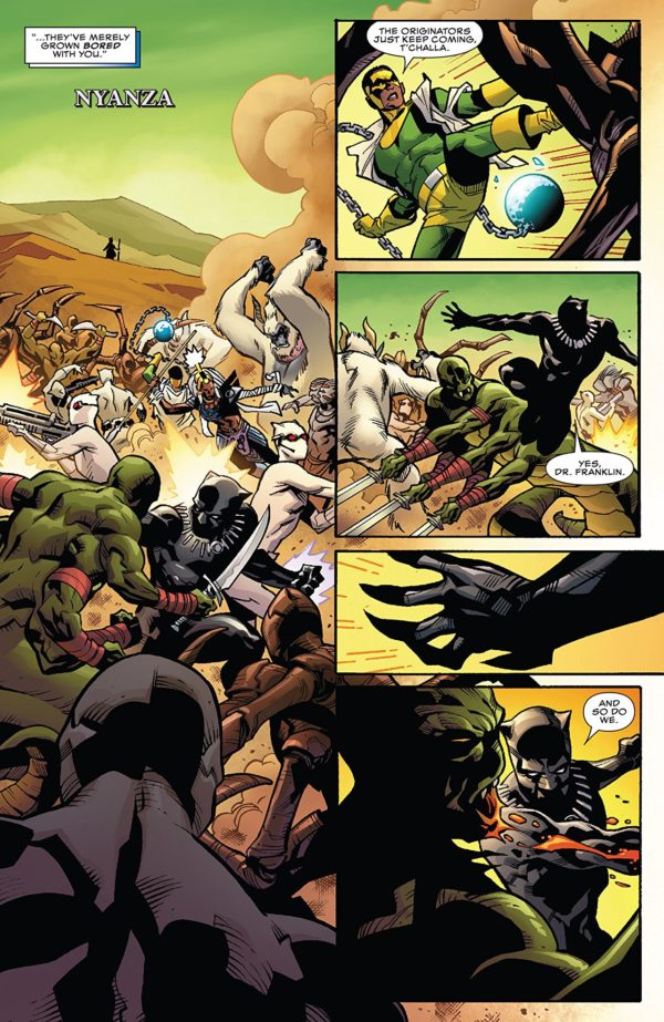 Black Panther #170 art by Leonard Kirk and Laura Martin