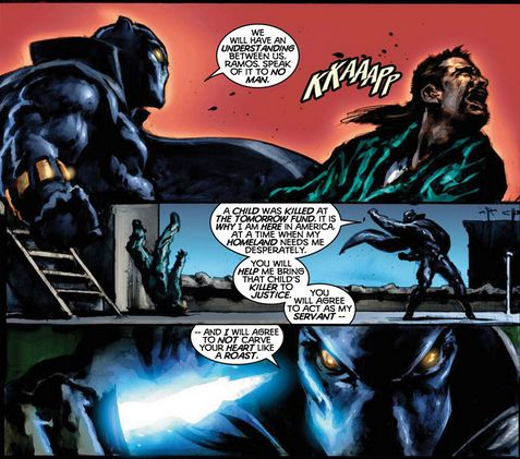 Marvel Knights Black Panther #1 art by Mark Texeira and Brian Haberlin