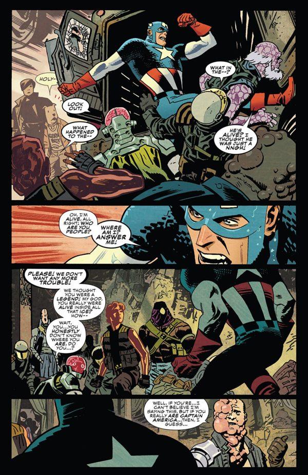Captain America #698 art by Chris Samnee and Matthew Wilson