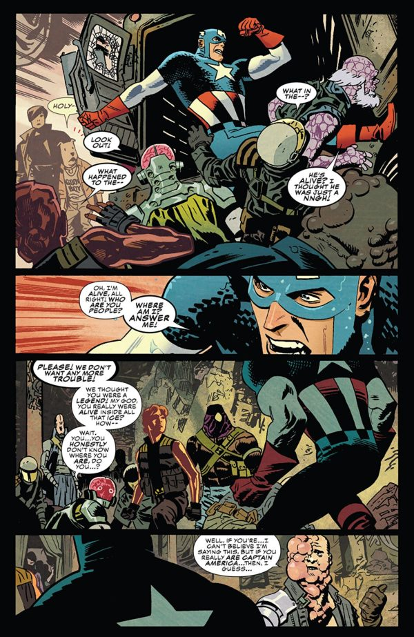 Captain America #698 art by Chris Samnee and Matthew Wilson