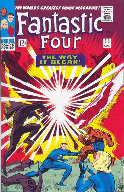 Fantastic Four #53 cover by Jack Kirby
