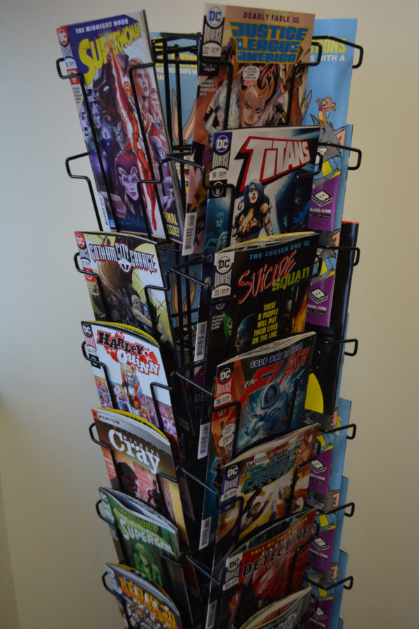 comic book spinner rack comic stores