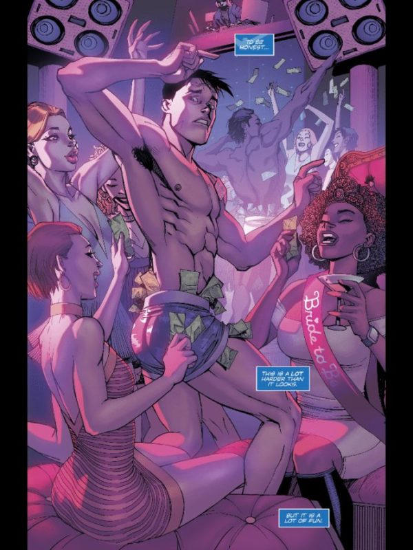 Dick the Dancer from Nightwing #38 by Cliff Chiang and Marcelo Maiolo