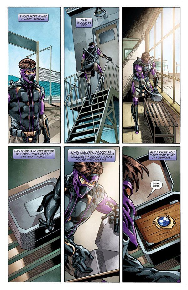 Ninjak vs the Valiant Universe #2 art by Joe Bennett, Belardino Brabo, and Ulises Arreola