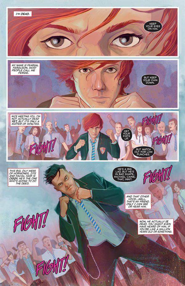 Punks Not Dead #1 art by Martin Simmonds and Dee Cunniffe