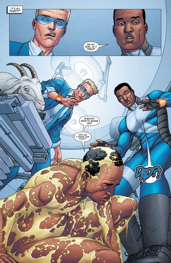 Quantum and Woody #3 art by Francis Portela and Andrew Dalhouse
