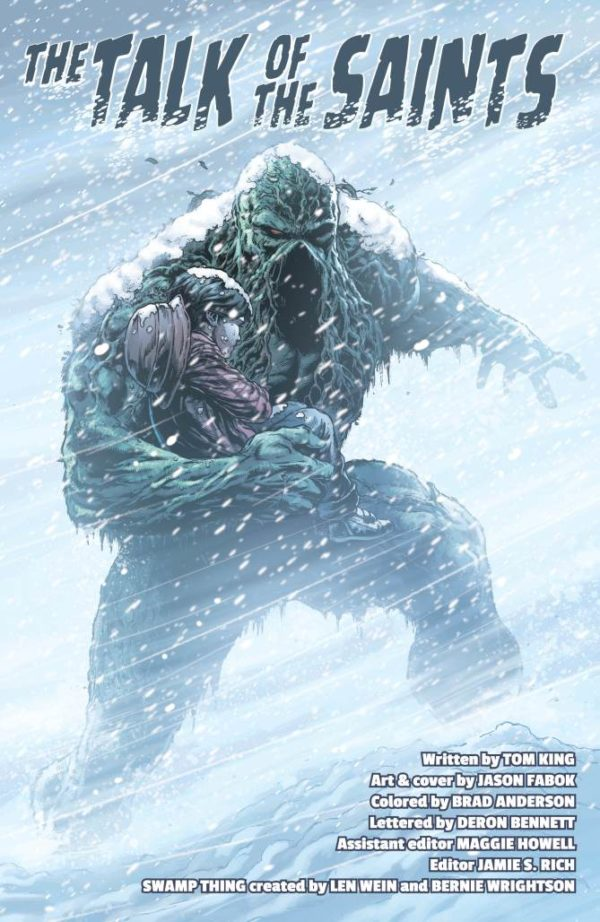 Swamp Thing Winter Special #1 art by Jason Fabok and Brad Anderson