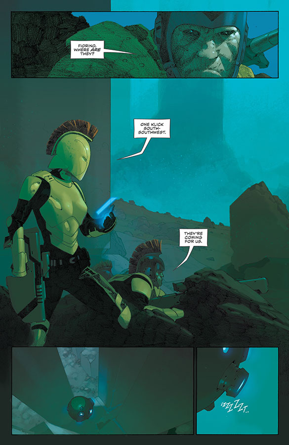 VS #1 art by Esad Ribic and Nic Klein