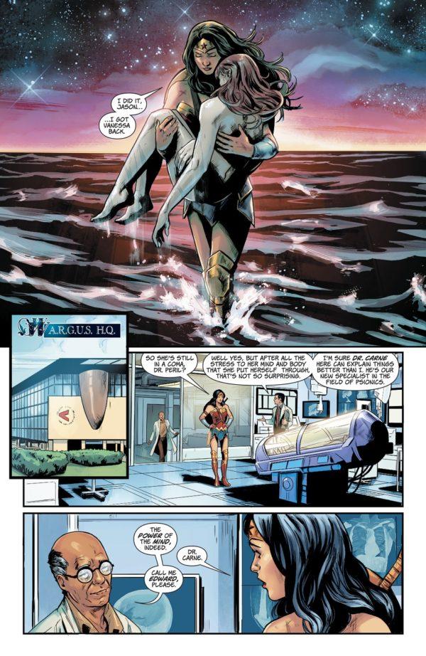 Wonder Woman #40 art by Emanuela Lupacchino, Carmen Carnero, Ray McCarthy, Romulo Fajardo Jr., and Hi-Fi