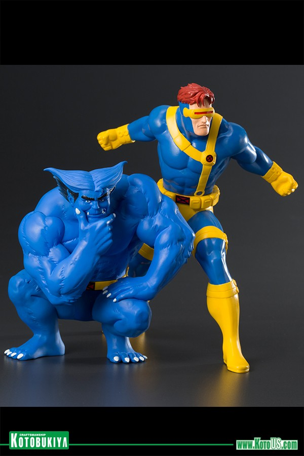 X-men Cyclops and Beast Kotobukiya Statue 1