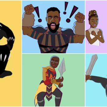 black panther imessage stickers