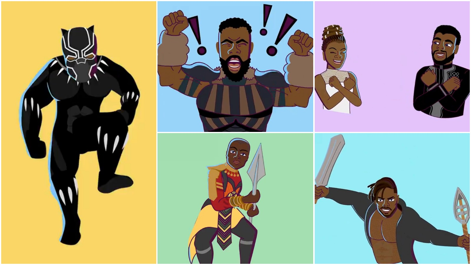 Disney releases black panther imessage stickers for ios devices