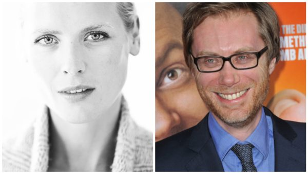 Synnøve Macody Lund and Stephen Merchant