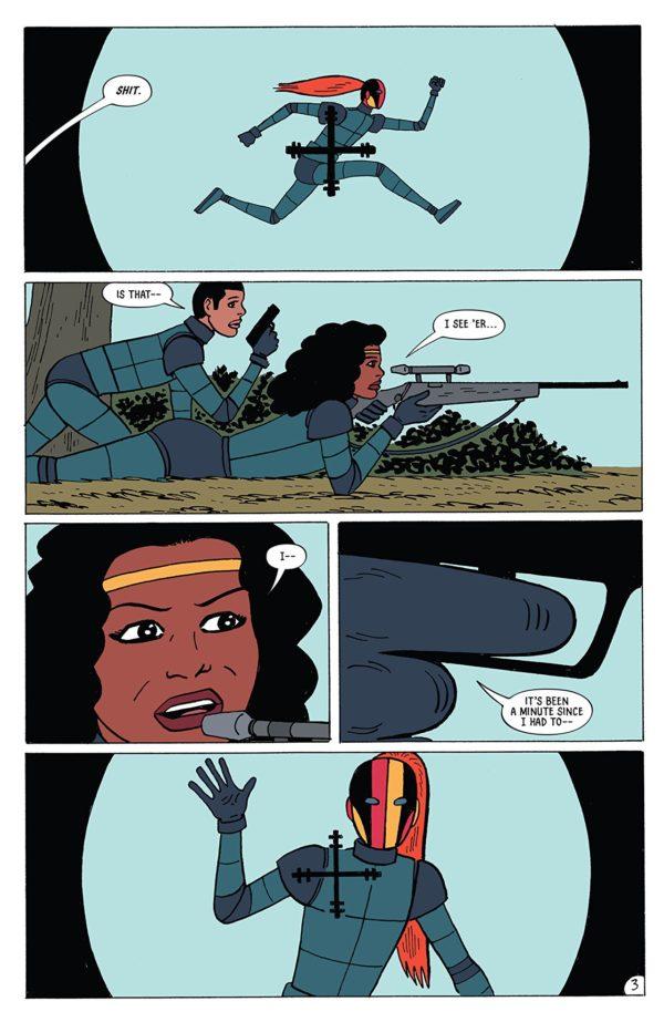 Assassinistas #3 art by Gilbert Hernandez, Rob Davis, and Robin Henley