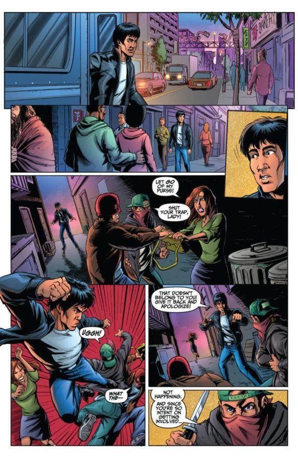 Bruce Lee: Walk of the Dragon One-Shot art by Brandon McKinney and Zac Atkinson