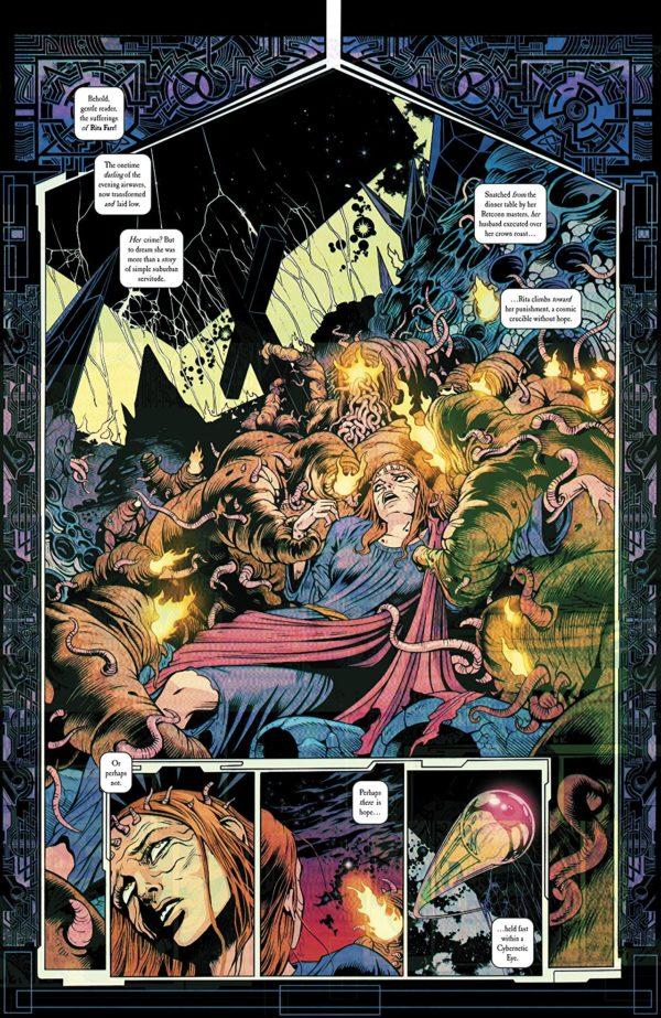 Doom Patrol/JLA Special #1 art by Dale Eaglesham, Nick Derington, Tamra Bonvillain, Marissa Louise, Sonny Liew, Ibrahim Moustafa, Michael Avon Oeming, and Marley Zarcone