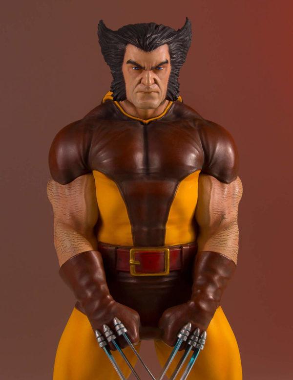 Gentle Giant Wolverine Brown Suit Statue 6