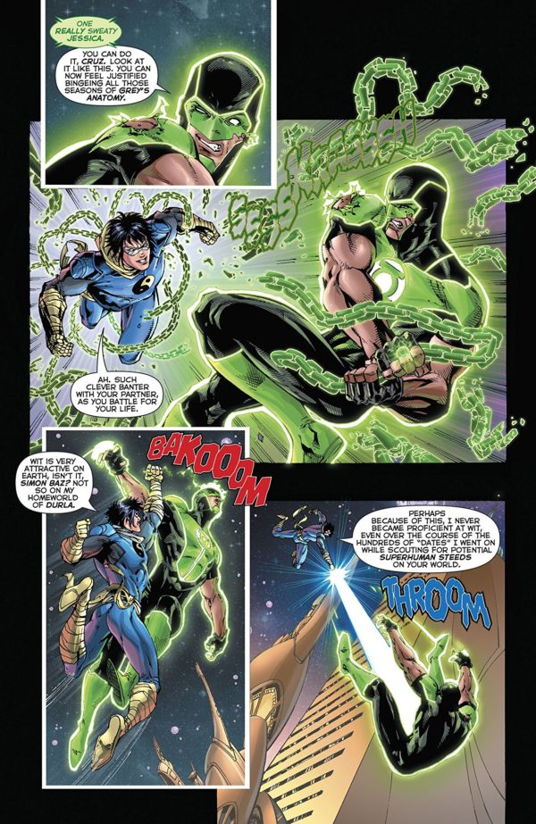 Green Lanterns #43 art by V. Ken Marion, Sandu Florea, and Dinei Ribeiro