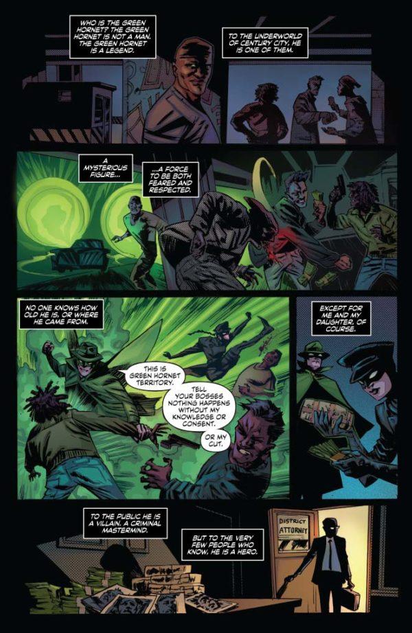 Página da nova Besouro Verde por German Erramouspe e colorizada por Brittany Pezzillo.