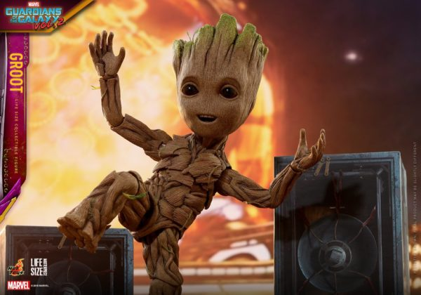 Baby Groot Life Size Figure Dances His Way To Collections From Hot Toys